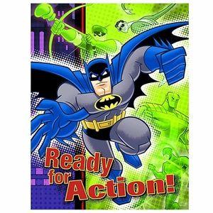 Batman Pack Of 8 Invitations  - Green Purple